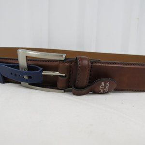 Croft & Barrow Mens Classic Leather Tan Brown Belt